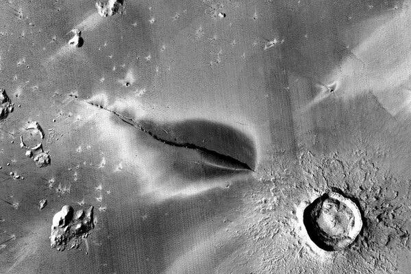 Signs of Recent Volcanic Eruption on Mars Hint at Habitats for Life