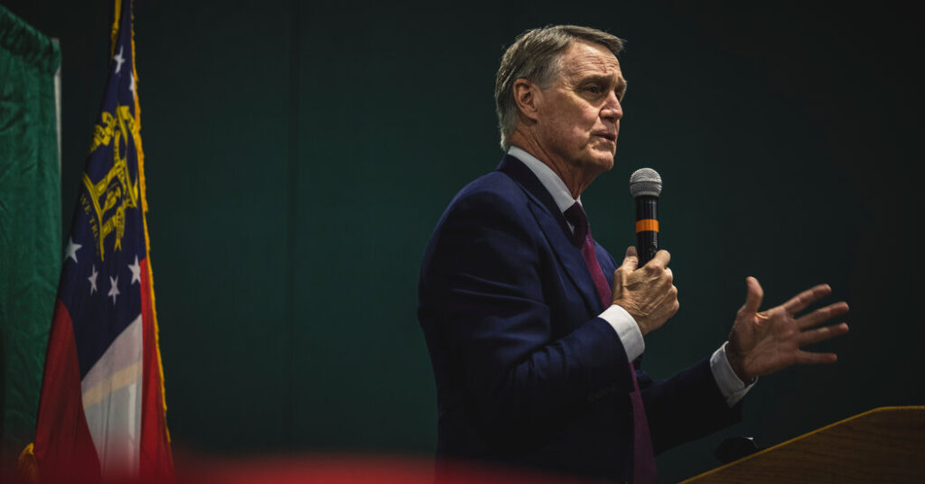 Stock Trades by Senator Perdue Said to Have Prompted Justice Dept. Inquiry