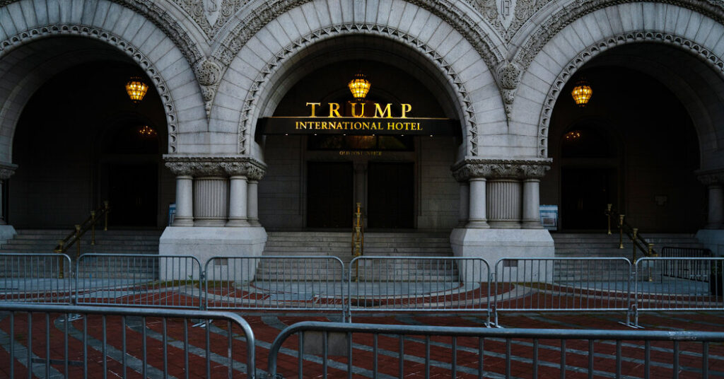 As His Term Ends, Trump Faces More Questions on Payments to His Hotel