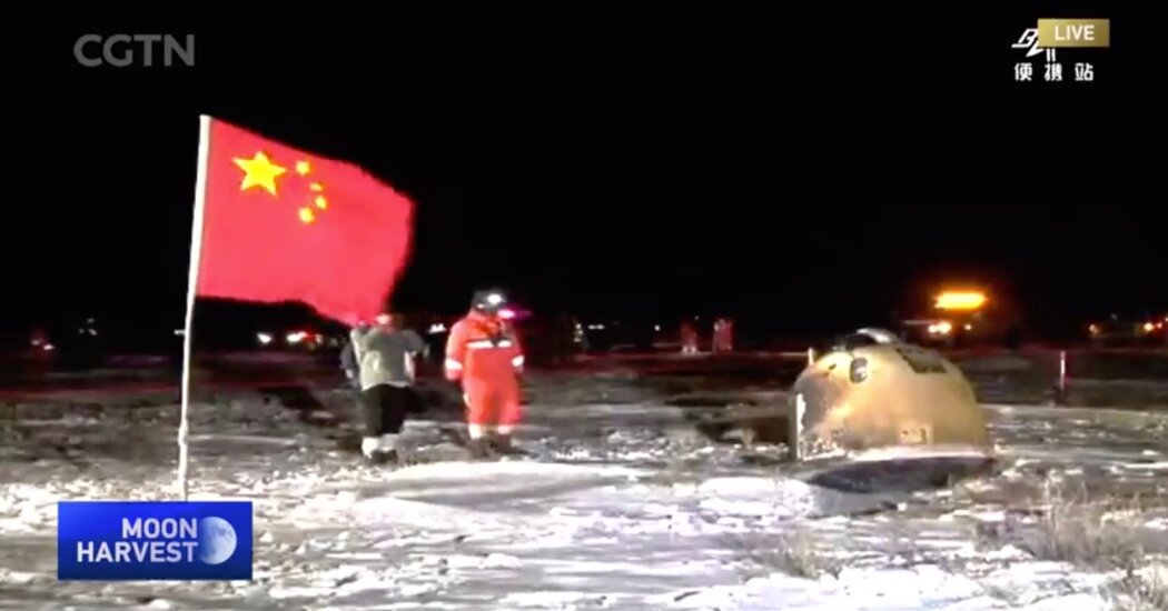 China Moon Mission Brings Lunar Rocks to Earth, and New Competition to Space