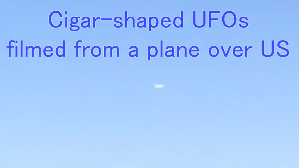 Cigar-shaped UFO filmed from a plane from Massachusetts to Florida
