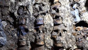 Creepy tower made of human skulls discovered in Mexico