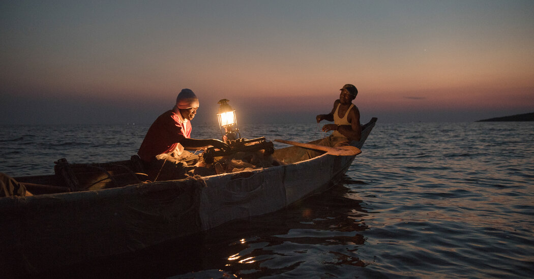 Fishing by Lantern on an Island in Kenya