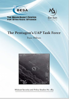 Paper on UAP Published by the Begin-Sadat Center for Strategic Studies at the Bar-Ilam University in Israel – Unidentifi…