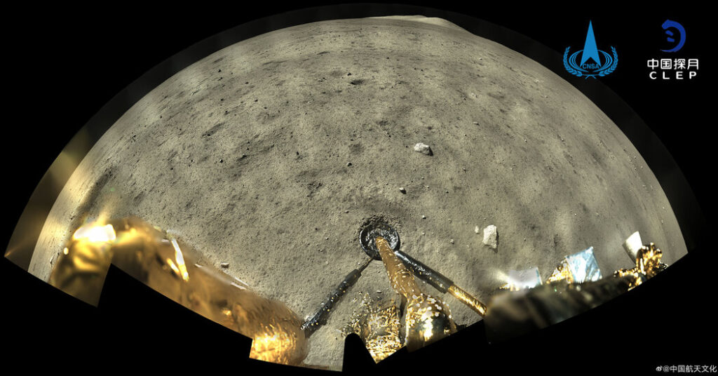 Watch the Moon Landing of China's Chang'e-5 Spacecraft