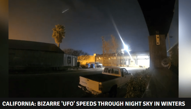 Camera Captures a Long-White Object Streaking Over the Californian Sky