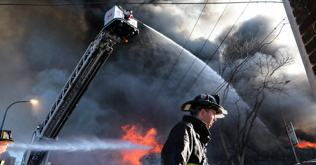 Firefighters Battle an Unseen Hazard: Their Gear Could Be Toxic