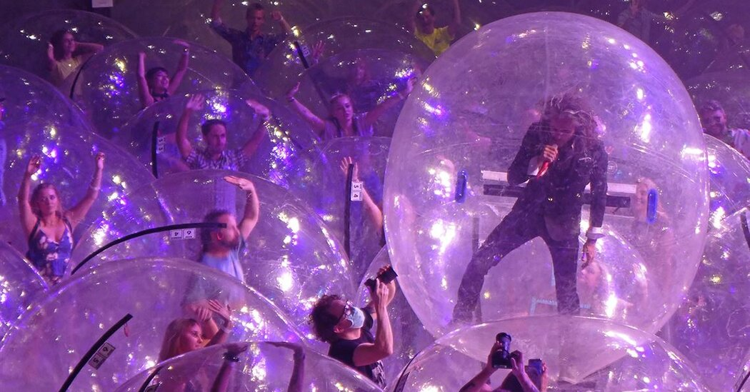 Flaming Lips Use of Plastic Bubbles at Concerts Leave Covid-19 Experts Unsure