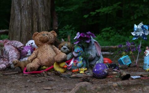 """""""Growling"""" Haunted Teddy Bear Spent the Night in a Haunted Castle"""
