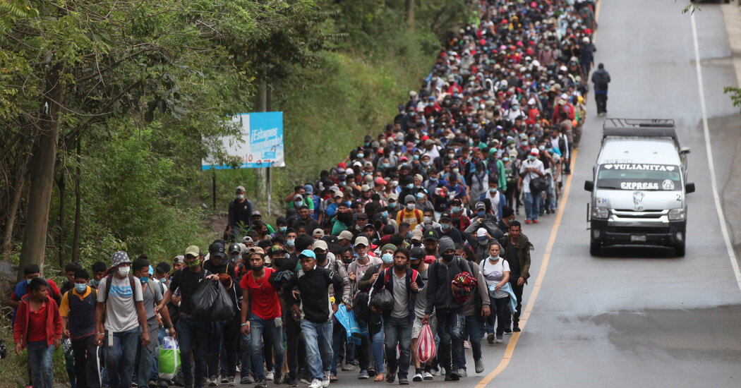 Migrant Caravan, Now in Guatemala, Could Pose Early Test for Biden