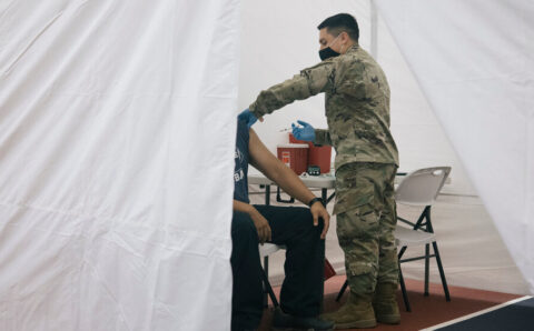 National Guard Provides Covid Vaccine Help in Overwhelmed States