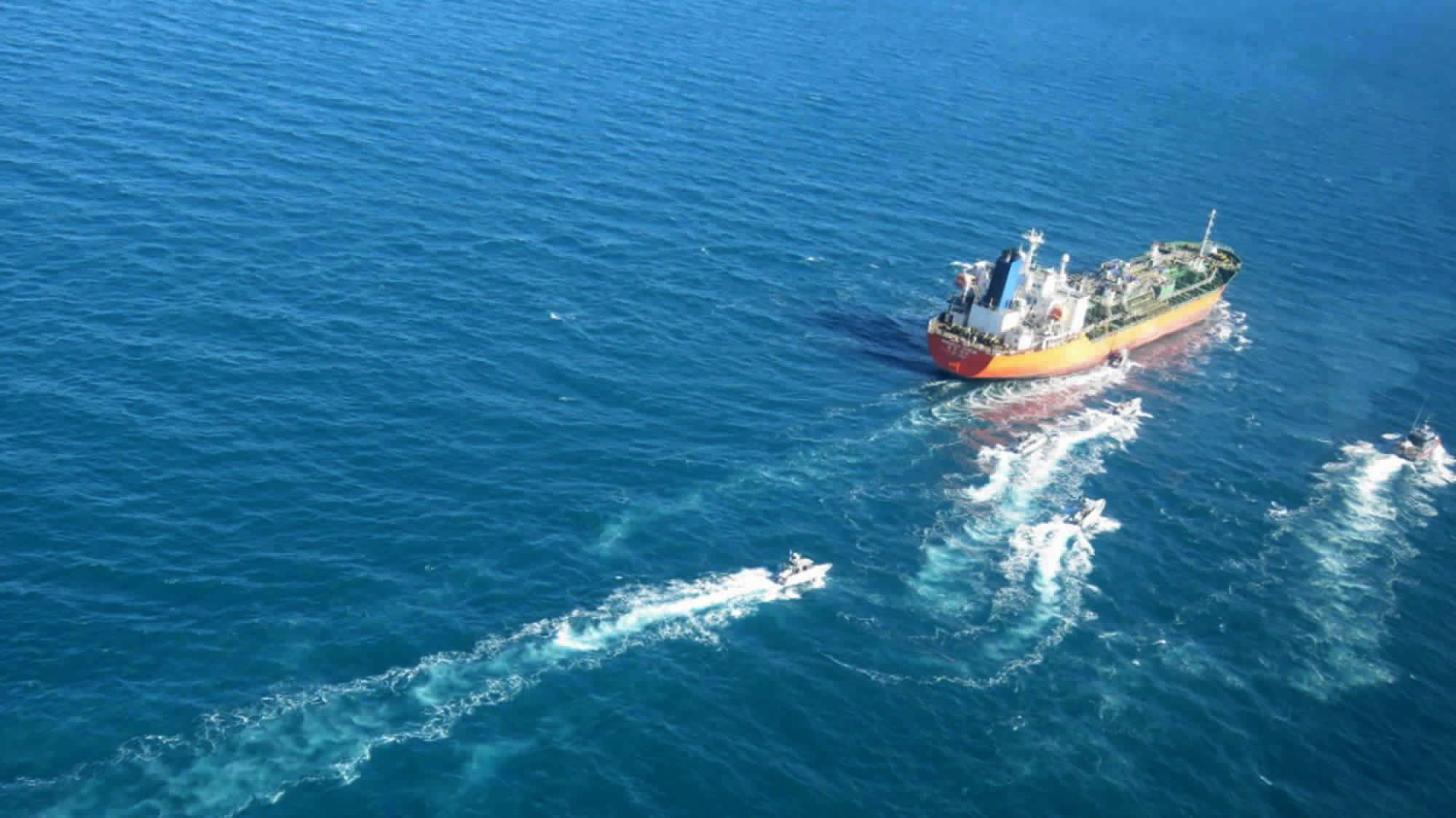 South Korean tanker was boarded by armed Iran Guard forces