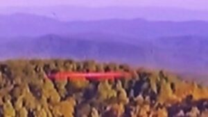 TV News channel captures red UFO flying over Hogback Mountain
