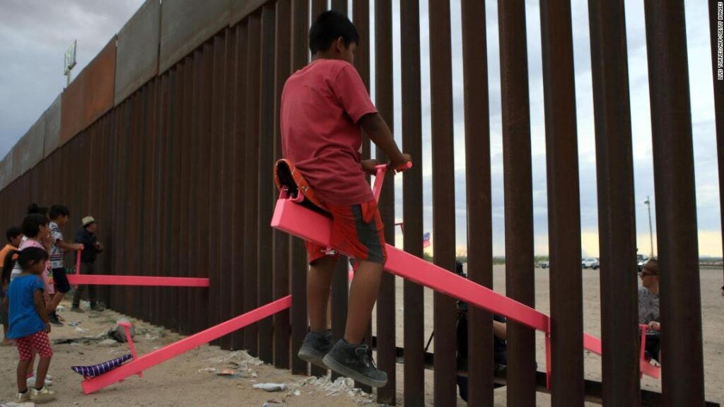 A seesaw across the US-Mexico border wins Design of the Year
