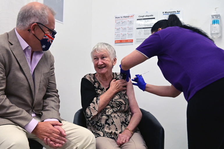 Australia begins COVID-19 vaccinations with Pfizer/BioNTech jab