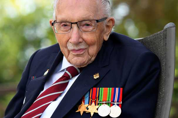 Capt. Tom Moore dies after covid diagnosis. The 100-year-old raised millions for Britain's NHS.