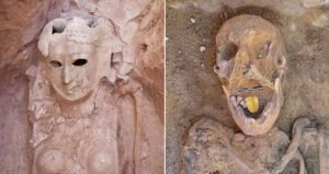 Egyptologists found a 2,000-year-old Egyptian mummy with a golden tongue