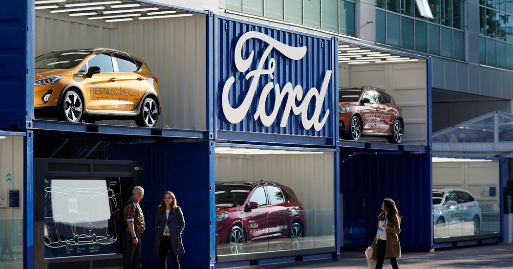 Ford says it will phase out gasoline-powered vehicles in Europe.