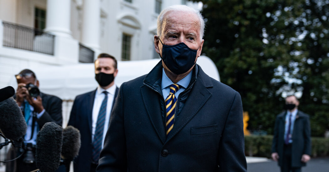 In Milwaukee, Biden Offers Reassurance, and Tries to Avoid Mention of 'the Former Guy'