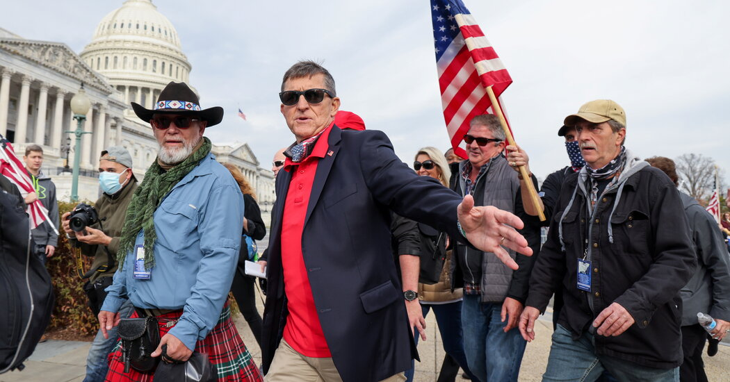 Michael Flynn Re-emerges Pushing QAnon, Stolen 2020 Election Lies