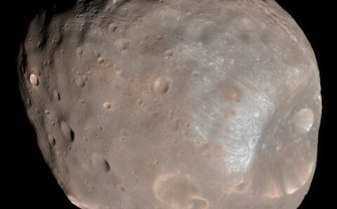 Phobos and Deimos May Have Originated From a Larger Shattered Moon