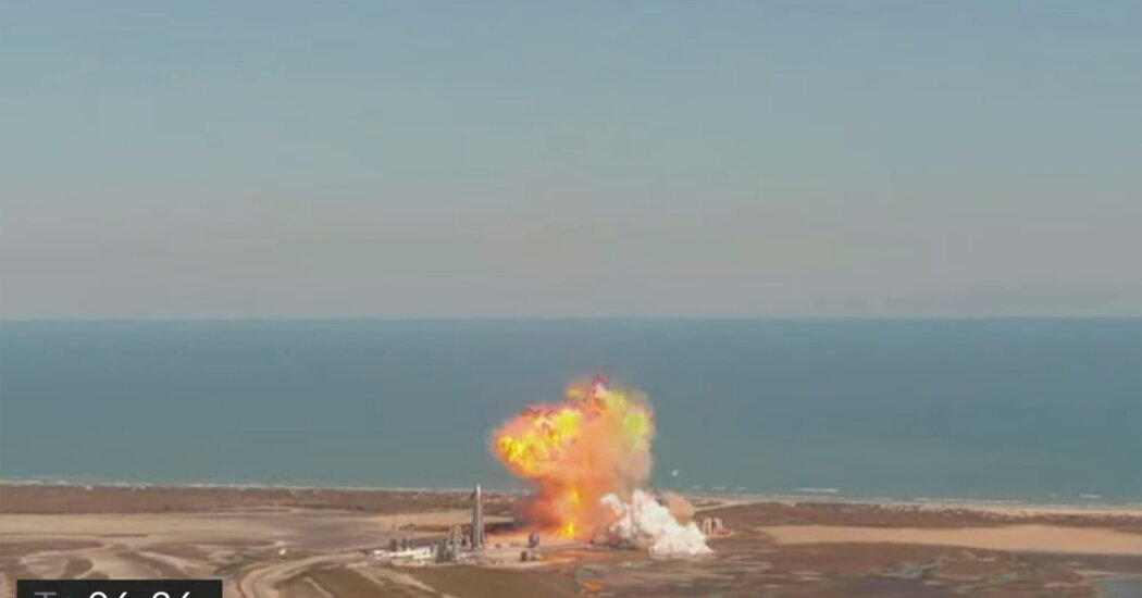 SpaceX's Prototype Mars Rocket Crashes in Test Flight
