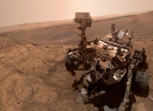 The Curiosity rover stumbles upon what looks like cement