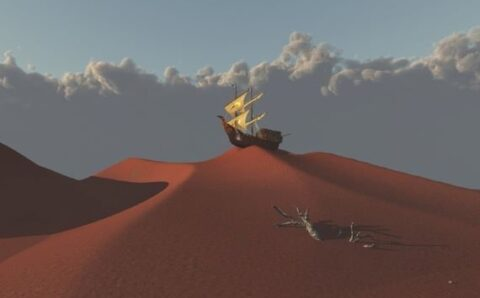 The Mysterious Lost Ghost Ships of the Desert
