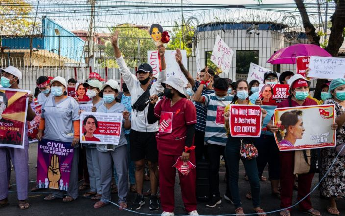 United Nations calls for restoration of civilian rule in Myanmar as protests grow