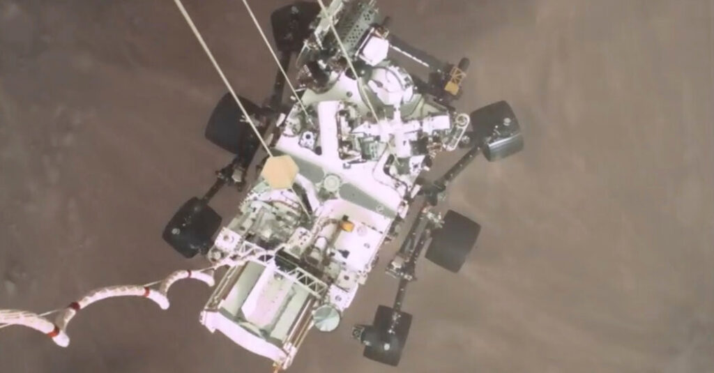 Watch Video From NASA's Perseverance Rover Landing on Mars