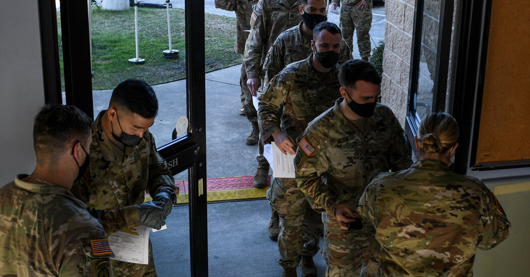 Younger Military Personnel Reject Vaccine, in Warning for Commanders and the Nation