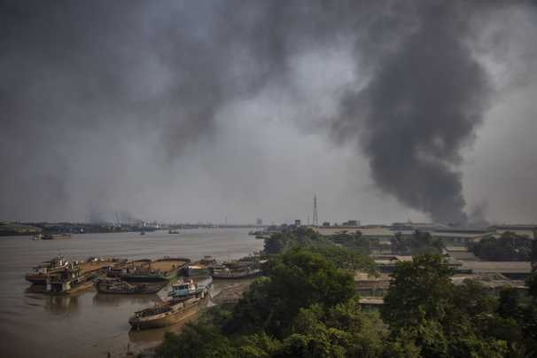 As Myanmar protesters torch Chinese factories, workers are caught in spiraling crisis