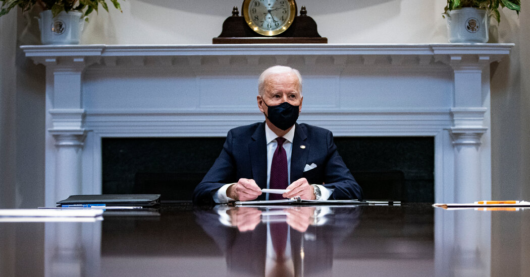 Biden Presses Economic Aid Plan, Rejecting Inflation Fears