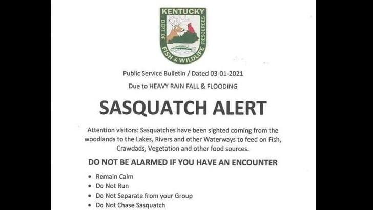 Fake Warning About Bigfoot in Kentucky Makes the Rounds on Social Media – Coast to Coast AM