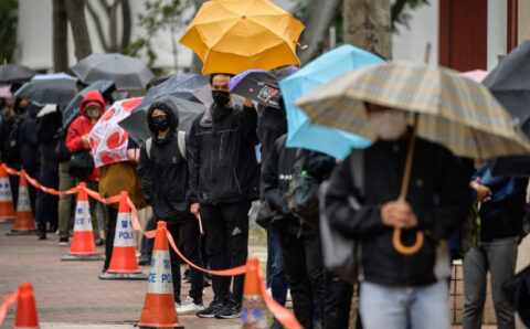 Hong Kong court weighs bail petition of pro-democracy activists