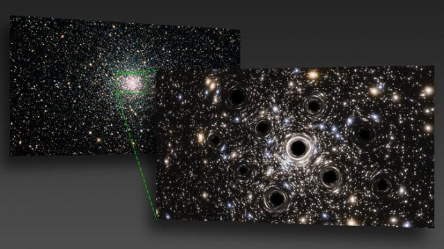 Hubble Telescope Finds Cluster of Dozens of Baby Black Holes
