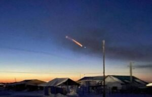 In the sky over Yakutia, an UFO was observed entering the Earth's atmosphere