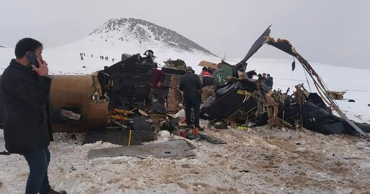 Military helicopter crash in southeast Turkey kills 11