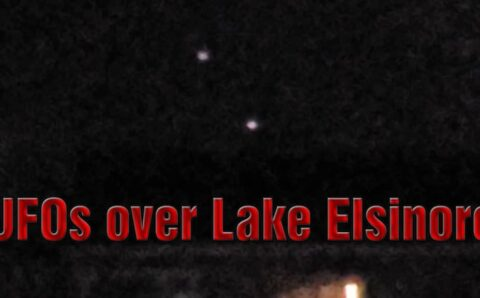 UFOs maneuvering over Lake Elsinore, CA 5-Mar-2021