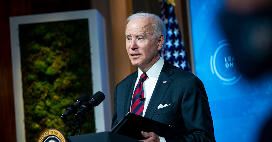 Biden, Calling for Action, Commits U.S. to Halving Its Climate Emissions