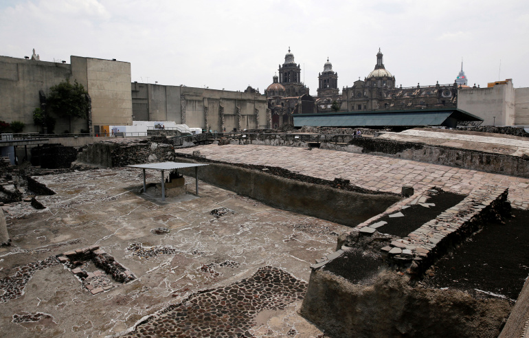 Mexico City's Aztec House of Eagles damaged in storm
