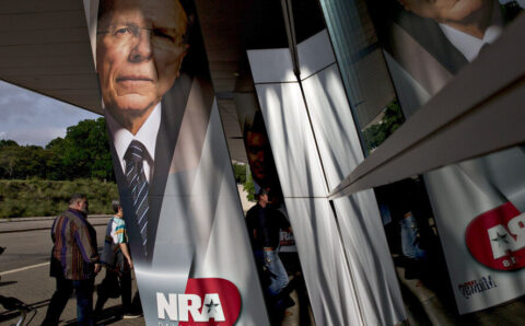 N.R.A. Chief Takes the Stand, With Cracks in His Armor