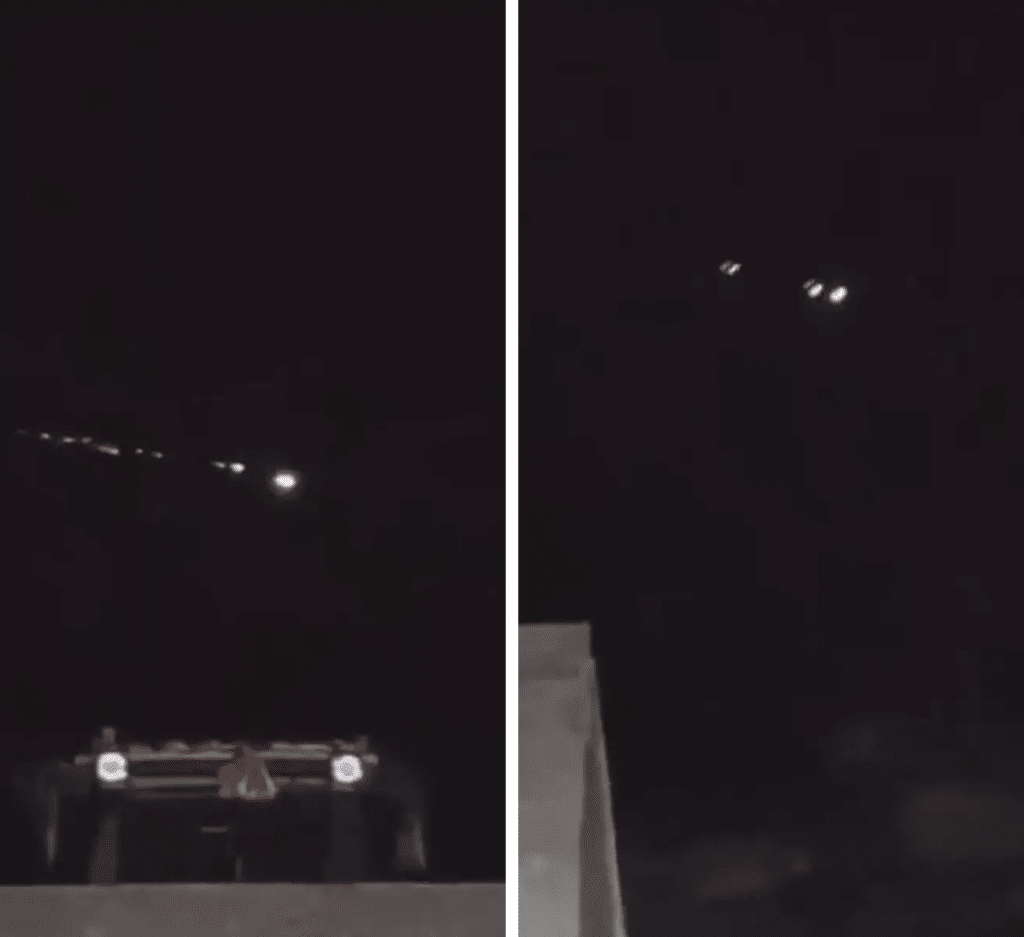 Row of UFOs Filmed in Rural China