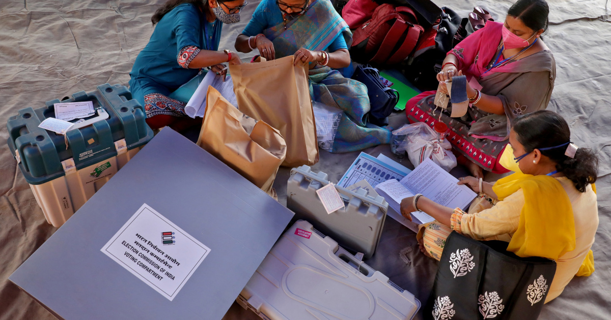 Vote count in five Indian states under way as pandemic rages