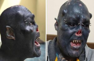 """Brazilian tattoo artist turned himself into a real-life """"Orc"""""""