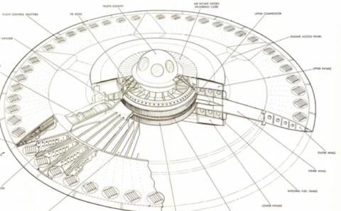 Did the US Air Force actually build a flying saucer?
