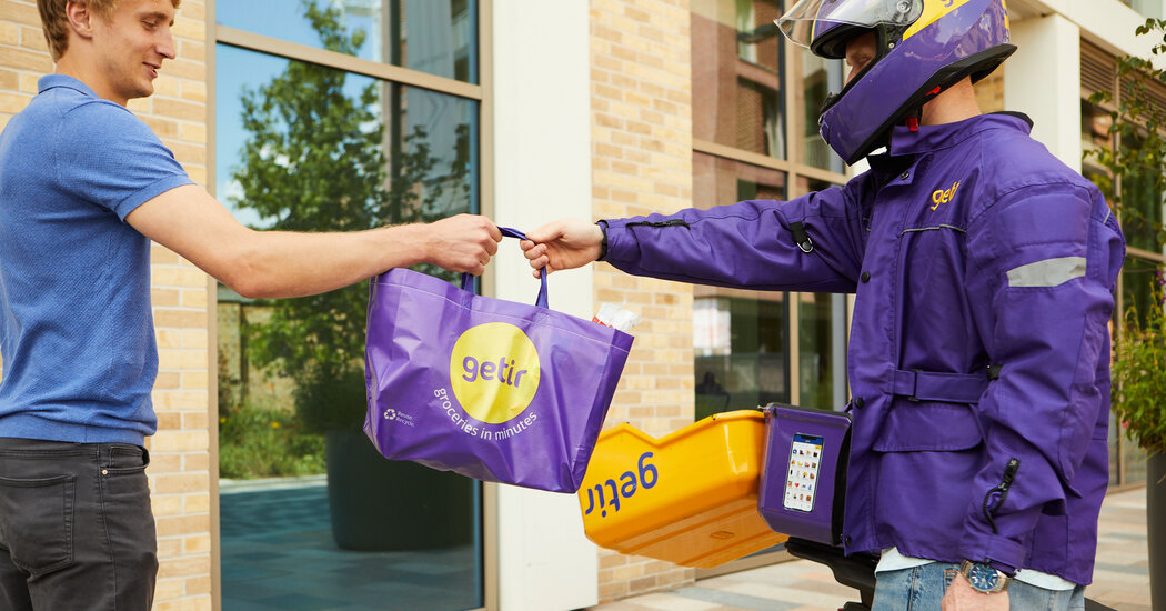 Groceries in 10 Minutes: Delivery Start-Ups Crowd City Streets Across Globe