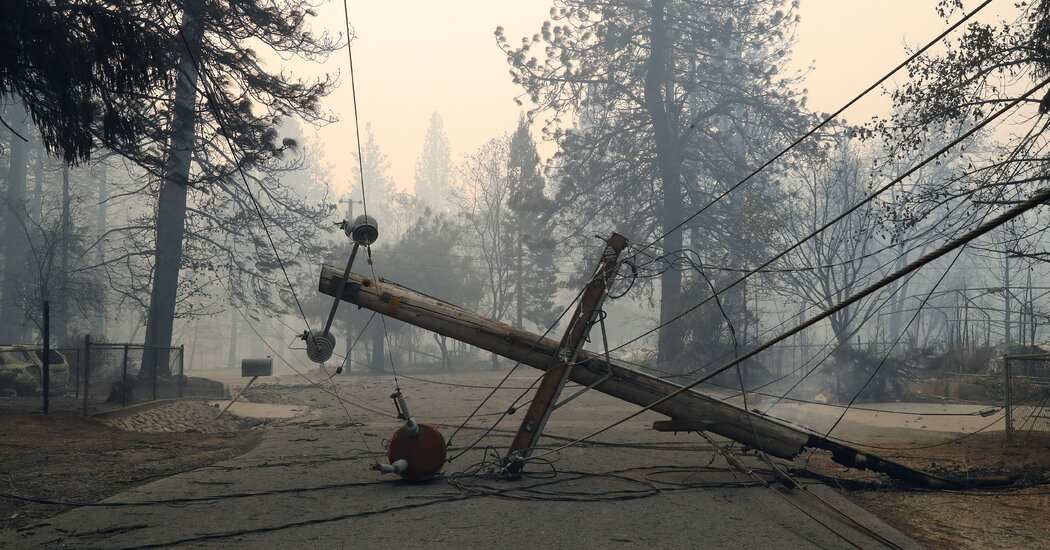 PG&E Aims to Curb Wildfire Risk by Burying Many Power Lines