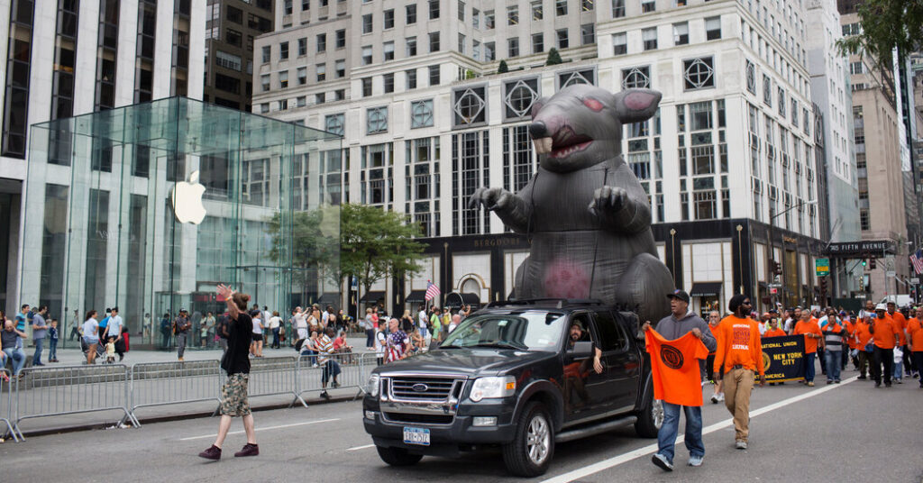 The National Labor Relations Board grants a reprieve to inflatable rats.