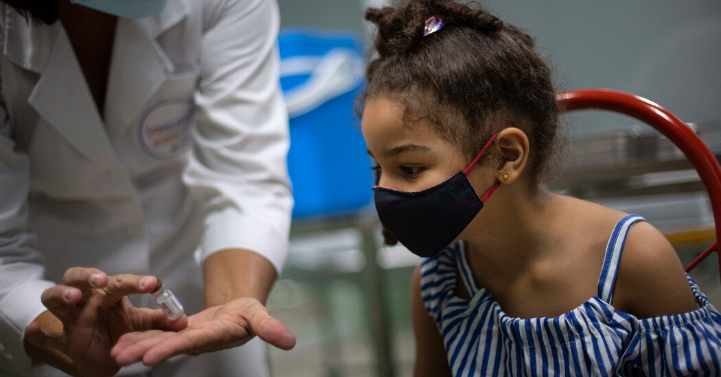 Cuba to Give Covid Vaccines to 2-Year-Olds